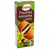Cora biscuits fourrés à la noisette 225g