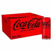 Coca-Cola zéro boite 20x33cl sleek