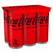 Coca-cola zero boite 6x33cl sleek