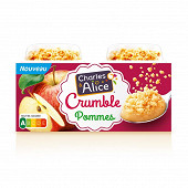 Charles & Alice pomme crumble 2x120g