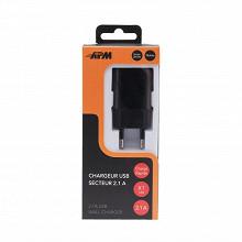 Apm Chargeur secteur 1 usb 2.1a noir 570335
