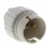 Prodelect douille b22 blanc nylon d8 passe fil