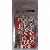 Prodelect 20 attaches cable 7mm blanc