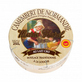 Camembert aop au lait cru 250g
