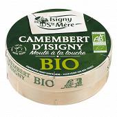 Camembert isigny bio 250g lait microfiltré moulé à la louche 22%mg/pt