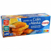 Cora tranches panés de colin Alaska 20x50g