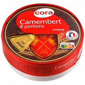 Cora camembert 8 portions au lait pasteurisé 45%mg 240 g