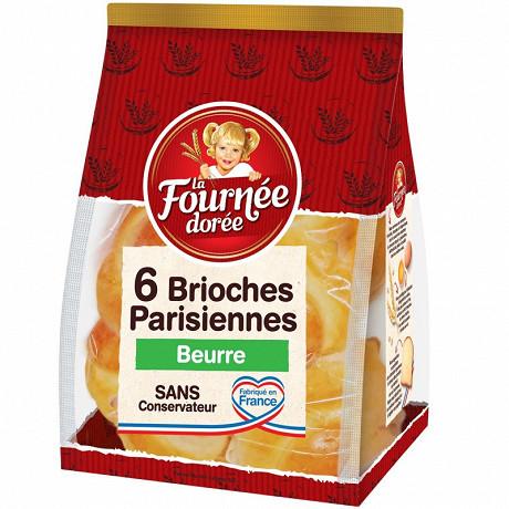 La Fournée Dorée 6 brioches parisiennes au beurre 270g