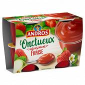 Andros onctueux spécialité de fraises pommes et groseilles 4x97g
