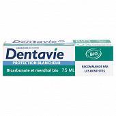 Dentavie dentifrice soin blancheur bicarbonate et cristaux de menthol 75ml