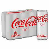 Coca-Cola light boite slim 8x25cl
