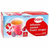 Cora infusion saveur fruits rouges 25 sachets soit 40g
