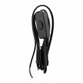 Prodelect cordon alimentation 2.5a 2x0.75mm + interrupteur noir