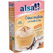 Alsa préparation crème anglaise vanille des Isles 3 sachets 300g