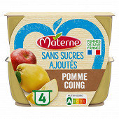 Materne ssa pomme coing 4x100g