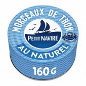 Petit Navire morceaux de thon au naturel démarche responsable 112g