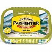 Parmentier sardines avec un filet d'huile d'olive vierge extra 135g