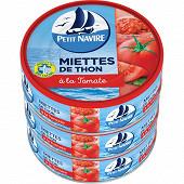 Petit Navire miettes de thon à la tomate 1/10 80g lot de 3
