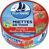 Petit Navire miettes de thon à la tomate et herbes de Provence sans arôme ajouté 1/3 250g