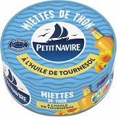 Petit Navire miettes de thon à l'huile de tournesol 1/5 160g