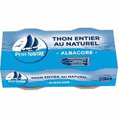 Petit navire thon naturel albacore 2x56g net égoutté