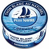 Petit Navire thon blanc naturel 140g