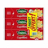 Panzani pâtes fantaisie capellini 500g X 2 + 1 paquet 500g offert