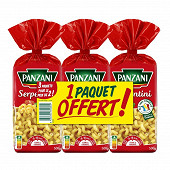 Panzani pâtes fantaisie serpentini 500g X 2 + 1 paquet 500g offert
