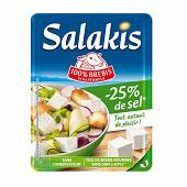 Salakis  -25% de sel barquette de 180g