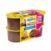 La Laitière Secret de mousse chocolat au lait 4x59g offre éco