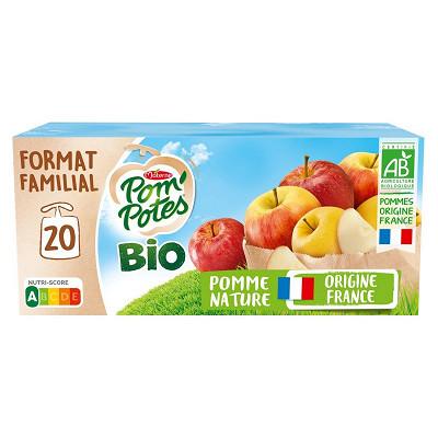 Materne Pom'potes bio sans sucres ajoutés pomme 20x90g