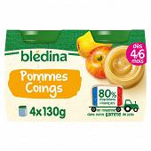 Bledina pots pommes coings 4x130g
