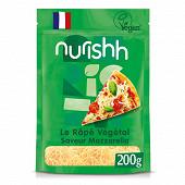 Nurishh rapé végétal saveur mozzarella - sans lactose - végan 200g