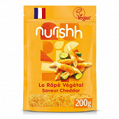 Nurishh rapé végétal saveur cheddar - sans lactose - végan - 200g