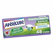 Apéricube nature et saveurs fraîcheur 48 cubes 250g