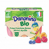 Danonino aux fruits bio panaché 12x50g