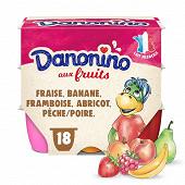 Danonino aux fruits panaché 18x50g