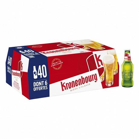 Kronenbourg 40 x 25 cl dont 6 offertes 4,2% Vol.
