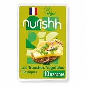 Nurishh tranches végétale classic - végan - sans lactose -10 tranches 200g