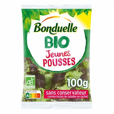 Bonduelle salade jeunes pousses bio sachet 100g