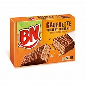 BN sensation gaufrette crunchy fondante x5 180g