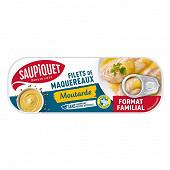 Saupiquet filets de maquereaux moutarde format familial 1/3 226g