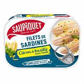 Saupiquet Filets sardines marinade citron basilic sans huile 100g