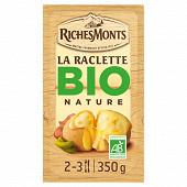Richesmonts raclette au lait biologique tranchettes 350g