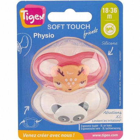 2 Sucettes silicone taille 18 mois biche chat Tigex
