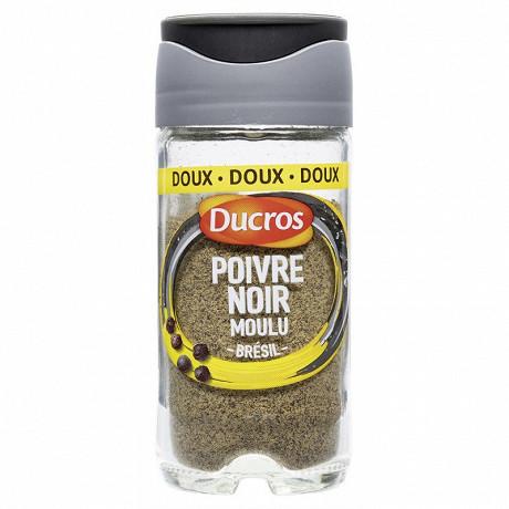 Ducros poivre noir moulu doux 32g