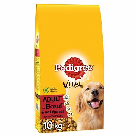 Pedigree croquettes pour chien adulte au b'uf et aux légumes sac 10kg