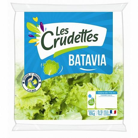 Les Crudettes salade batavia sachet 125g