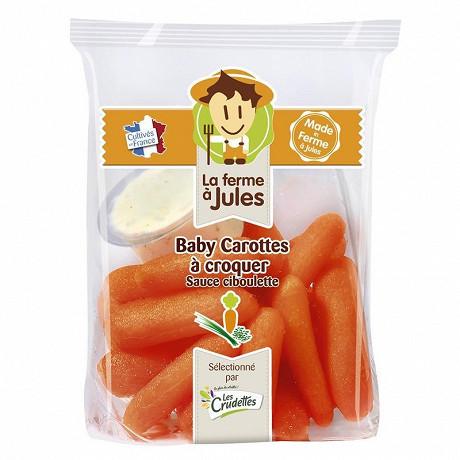 La Ferme à Jules baby carottes + sauce 200g