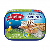 Saupiquet filets de sardine grillés sans aretes herbes de provence 70g